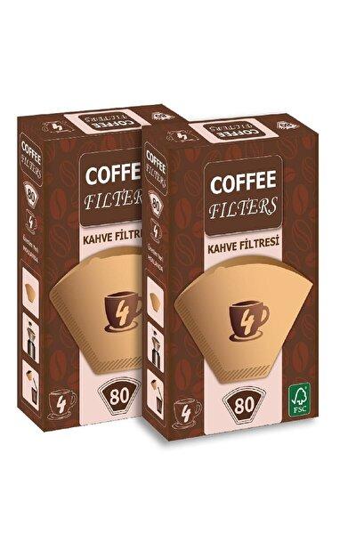 Filtre Kahve Kağıdı 1 X 4 Avantajlı Paket  2 Adet 80'li