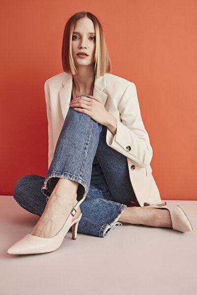 Bej Kadın Klasik Topuklu Ayakkabı 01AYH207120A310