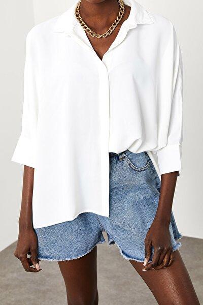 Kadın Beyaz Salaş Gömlek 1KZK2-11484-01