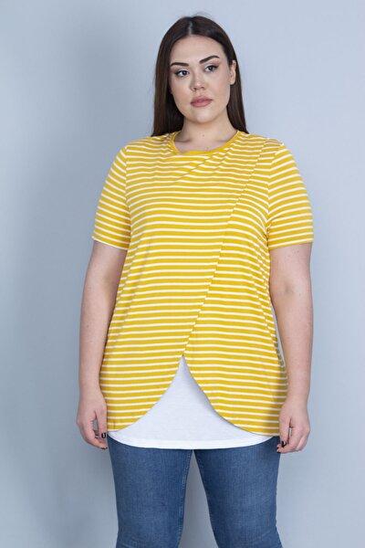 Kadın Sarı Ön Detaylı Bluz 65N22980