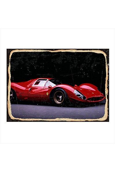 Ferrari Yarış Arabası Art Mdf Poster 25cm X 35cm