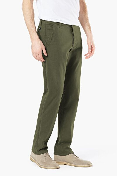 Erkek Supreme Flex Alpha Khaki, Tapered Fit Pantolon