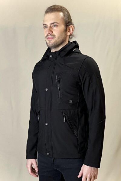 Erkek Siyah Softshell Ceket