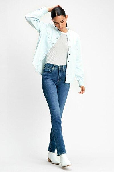 Kadın 724 Yüksek Bel Straight Jean 18883-0075