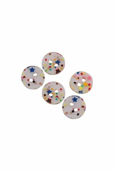 Yuvarlak Şeker Düğme 5 Adet