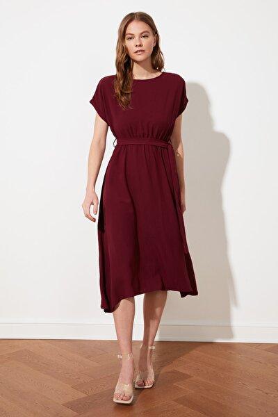 Mürdüm Kuşaklı Elbise TWOSS21EL0764