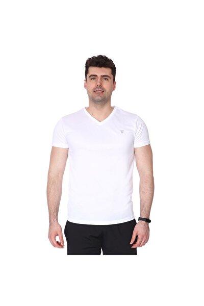 Erkek Beyaz Polvebasic Günlük Tişört 710303-00w-sp