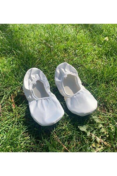 Unisex Beyaz Gösteri Ayakkabısı Pisi Pisi Babet Ayakkabı