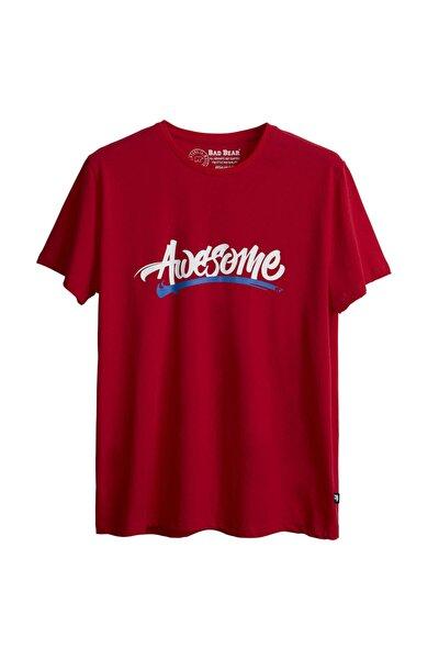 Erkek Kırmızı Baskılı Tshirt
