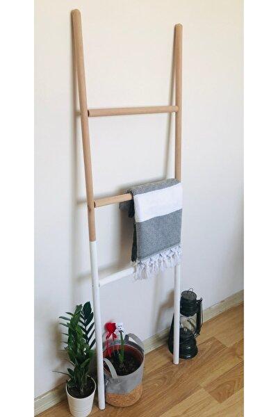 Dekor Merdiven - Beyaz Ahşap Renkli Dekorasyon Merdiven