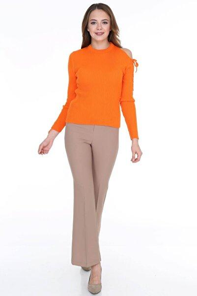 Kadın Camel Halkalı İspanyol Paça Pantolon 1163326