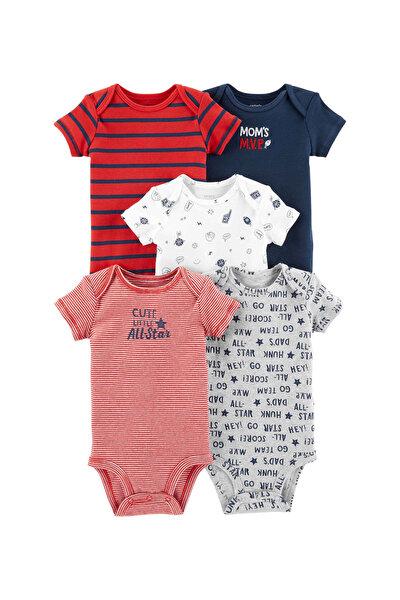 Erkek Bebek Kırmızı Layette Body 5'li