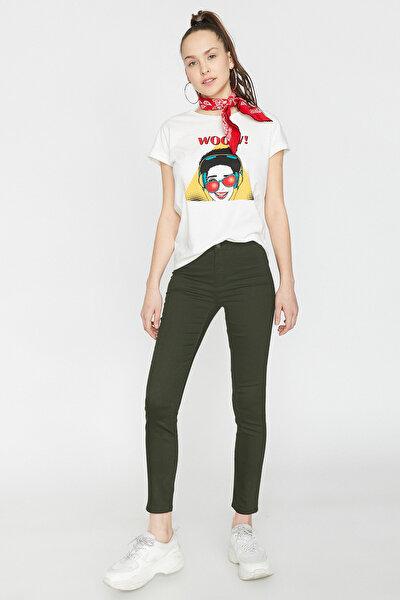 Kadın Yeşil Pantolon 9YAL41000MW