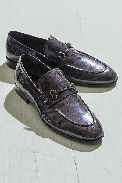 TUAN Hakiki Deri Antrasit Erkek Ayakkabı