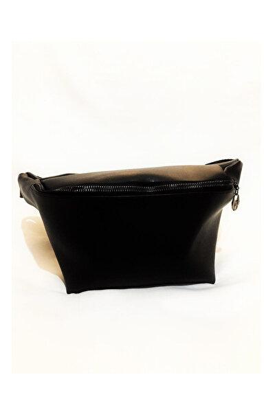 Marka Kadın Siyah Rengi Deri Bel Çantası Xybdr122
