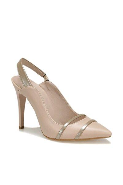 19s-034 Bej Kadın Topuklu Ayakkabı 100371384