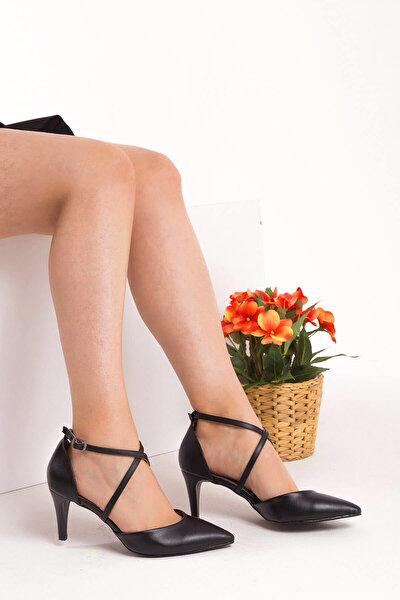 Siyah Kadın Topuklu Ayakkabı D654054809