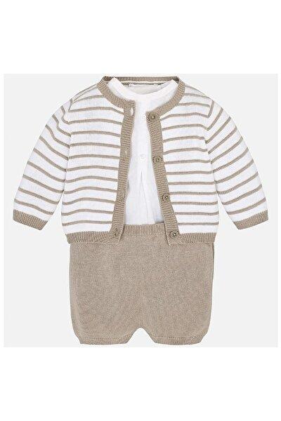 Yazlık 1 Bebek Örme Salopet Ceket 3'lü Set