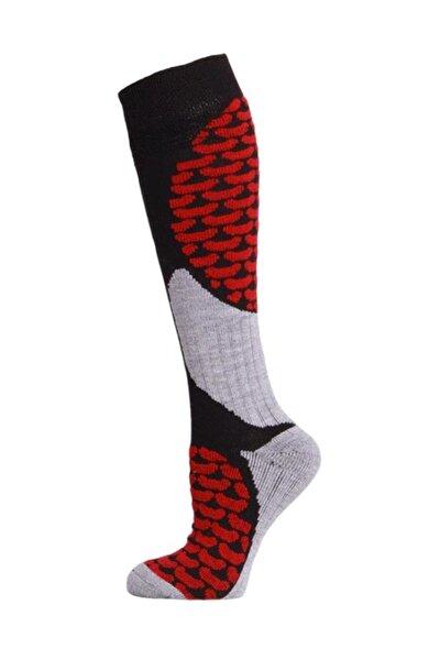 Ski & Snowboard Erkek Kayak Çorabı Siyah/Kırmızı