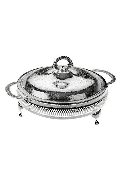 Gümüş-Cam 5 Bölmeli Kulplu Kapaklı Servis 25*25