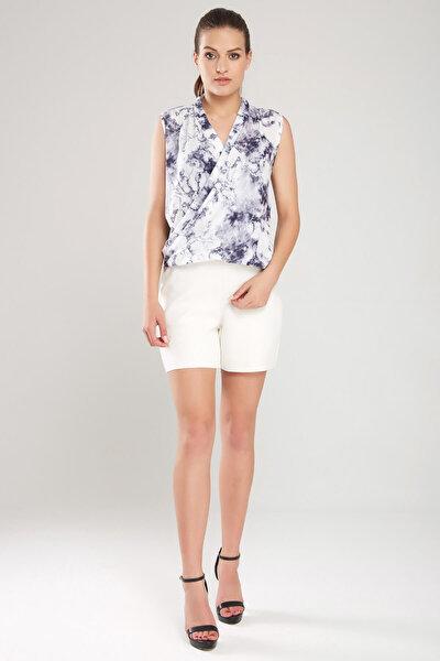 Kadın Desenli Bluz 16L4931