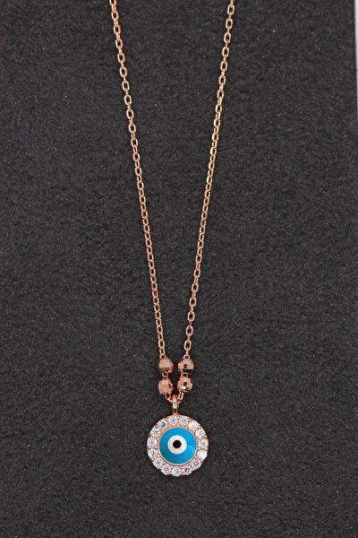 Kadın Nazar Rose Gümüş Kolye TGK0197
