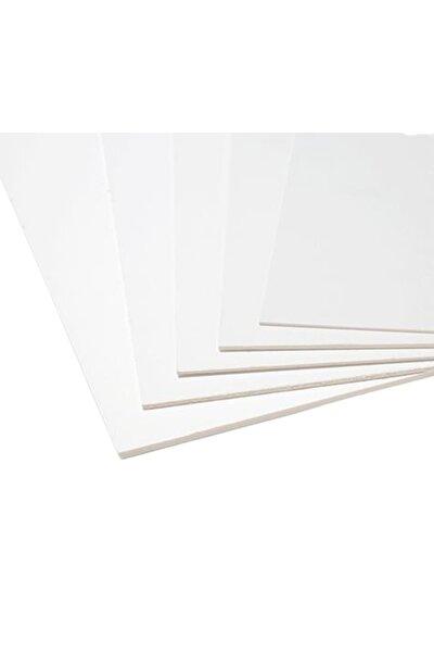 A4 (21cmx30cm) 5 Adet 2.5mm Kalınlık Beyaz Dekota Levha Foreks Maket Kartonu