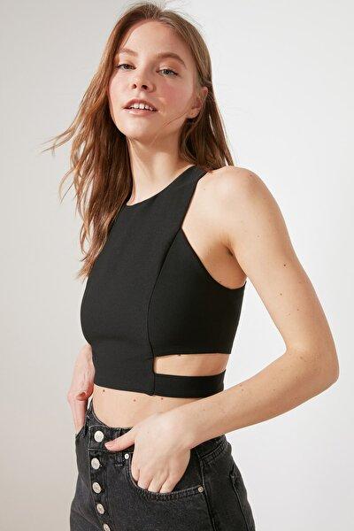 Siyah Crop Bluz TWOSS21BZ1477