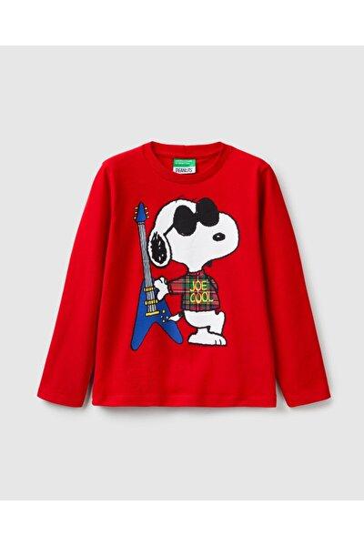 Erkek Çocuk Snoopy Baskılı Tshirt 012