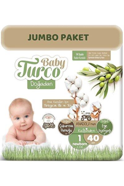 Bebek Bezi Doğadan Beden:1 (2-5kg) Yeni Doğan 40 Adet (göbek Bağı Oyuntulu) Jumbo Pk