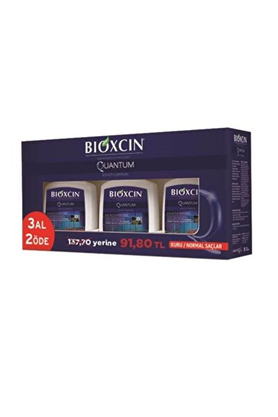 Quantum Şampuan 300 ml 3 Al 2 Öde Kuru Ve Normal Saçlar 8680512625490