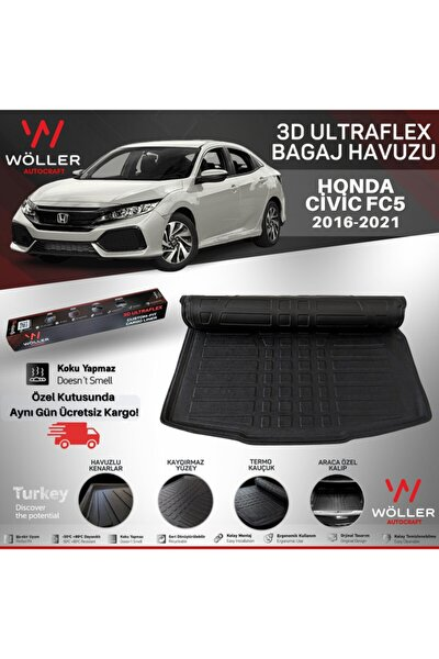 Honda Civic Fc5 Bagaj Havuzu 2016 2021 Arası 3d Ultraflex Esnek