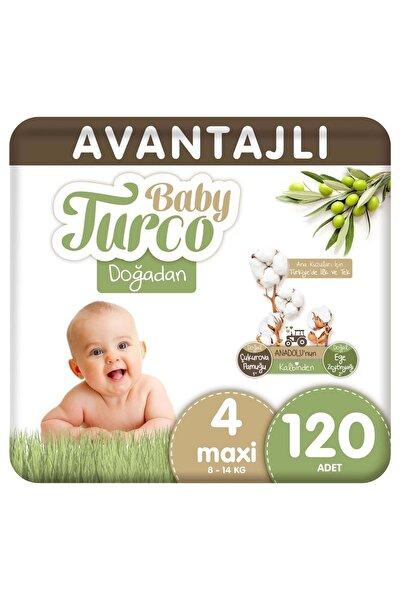 Doğadan Avantajlı Bebek Bezi 4 Numara Maxi 120 Adet