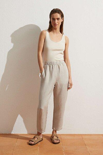 Keten Uzun Pantolon