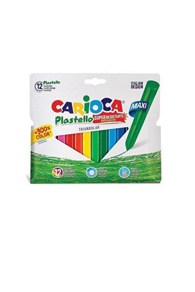 Jumbo Üçgen Elleri Kirletmeyen Yıkanabilir Pastel Boya Kalemi 12'li