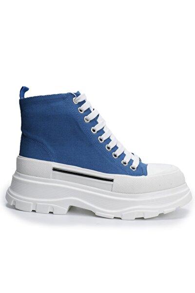 Ozdorothy Kalın Taban Mavi Kadın Spor Ayakkabı