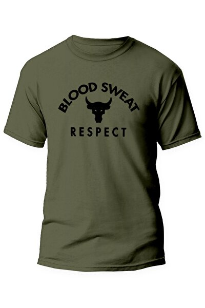 The Rock Blood Sweat Respect Gym Tişört