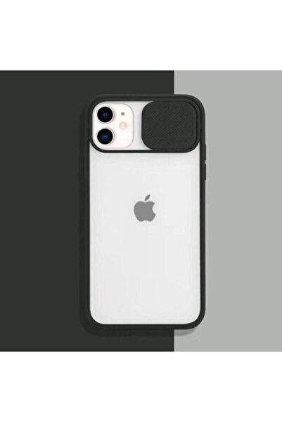 Iphone 11 Uyumlu Siyah Kamera Lens Koruma Kapaklı Kılıf