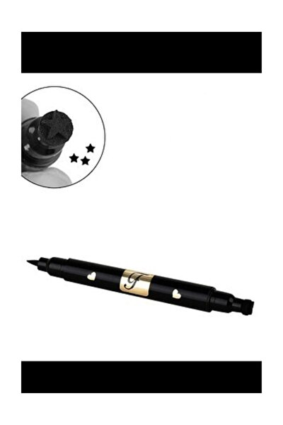 Yıldız Bir Tarafı Kalem Bir Tarafı Yıldız Baskılı Eyeliner