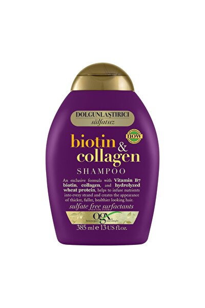 Dolgunlaştırıcı Biotin & Kolajen Sülfatsız Şampuan 385 ml