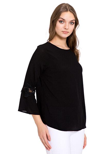 Kadın Siyah Bluz 8S1960Z8