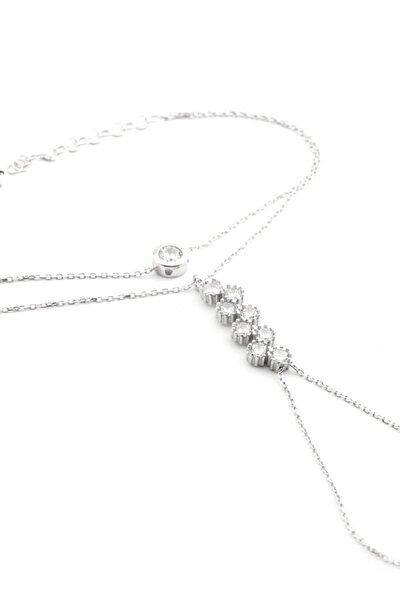 Kadın Taşlı Gümüş Şahmeran WB684