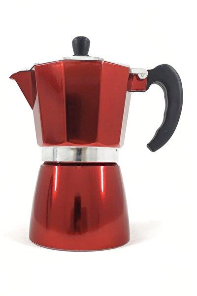 Moka Pot 6 Fincan 360 Ml Moka Cezve | Kırmızı Moka Pot Express 6 Cups