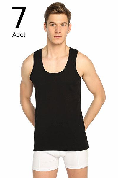 Erkek Siyah 7'li Paket Ribana Klasik Atlet ELF568T0102CCM7