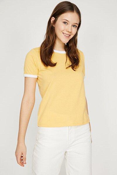 Kadın Sarı Kısa Kollu T-Shirt 9YAL18203IK