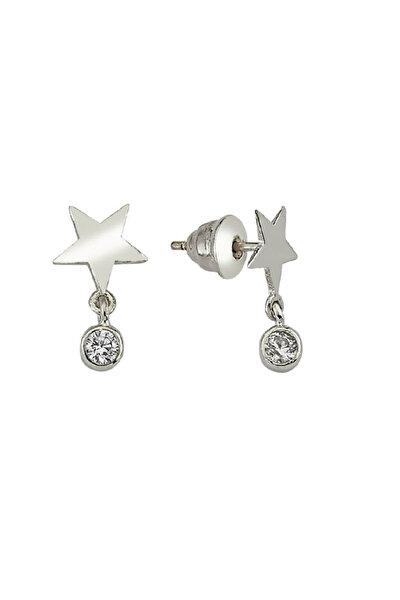 Kadın Gümüş Mini Yıldız Küpe C544