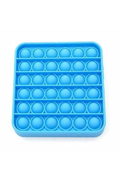 Push Pop It Push Bubble Fidget Stres Atıcı Rahatlatıcı Duyusal Oyuncak Standart Mavi Kare