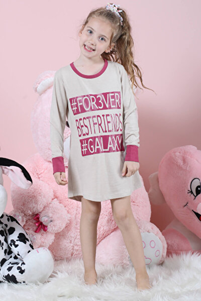 Kız Çocuk Bej Elbise 67405