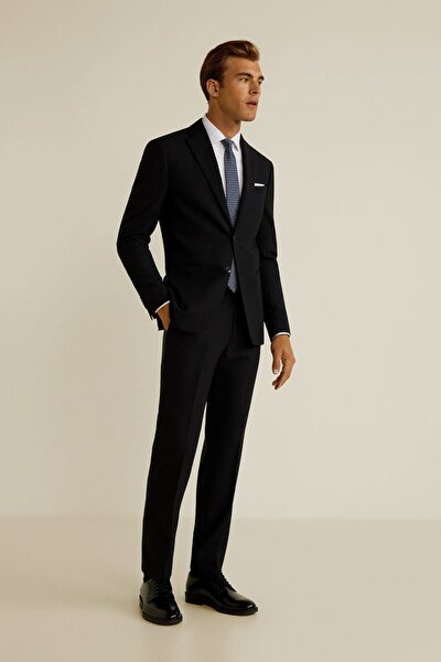 Erkek Siyah Dar Kesim Travel Suit Pantolon 43067023