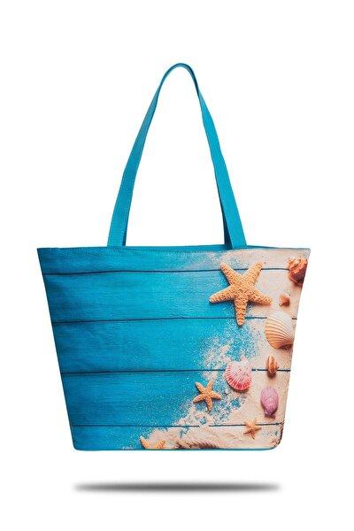 Mavi Kadın Plaj Çantası GNCP 703
